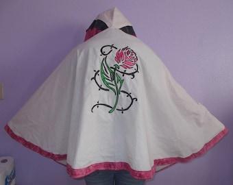 Handmade Ladies Rose Cloak One of a kind