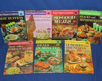 Better Homes and Gardens COOKBOOKS Set of 7 1963 Great Set Creative Cooking Library