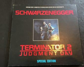 Terminator 2 Judgement Day VHS Special Edition Box Set 1993 Schwarzenegger! Awesome Nostalgia VHS Box Set T2 Terminator 2 Judgement Day