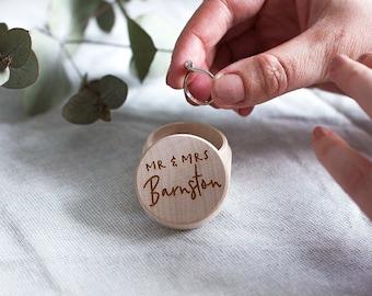 Personalised Couple's Wedding Day Ring Box - Wedding Ring Box - Wedding Gift - Engagement Gift - Lesbian Wedding - Gay Wedding - Ring Holder