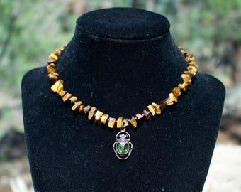 Tigers Eye Hematite Necklace