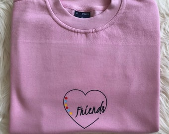 Heart Friends Custom Design Sweatshirt