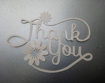 Thank you gift - SLS template - handcut papercut - Wedding Thank you