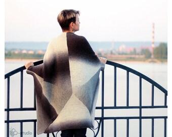 Hand Knit plus size clothing coat for Women plus size sweater  Wool creative cape Plus size Cardigan  Plus size clothing