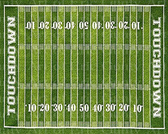 Football Field Party Birthday - Edible Cake and Cupcake Topper For Birthday's and Parties! - D22897