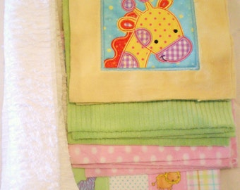 Too Cute Jungle Cuddly Minky Blanket Kit