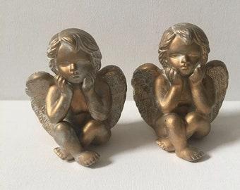 Vintage Cherub Angel Figurines set /2