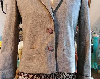 Men's Medium Jacket - 60s Designer Pierre Cardin - 1960s Brown Tweed Men's Sport Coat - Made in France Boutique Label - Chest 42 - 34977-1 Frw4E
