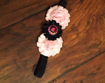 Black and pink heandband