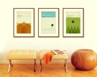 STAR WARS Inspired Movie Poster Art Print Series - 12 x 18 Minimalist, Graphic, Mid Century Modern, Boutique, Vintage Style, Retro Home