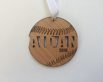Baseball Ornaments - Baseball Gifts for Boys - Baseball Mom - Baseball Coach Gift - Engraved Ornament Personalized Custom Christmas Ornament