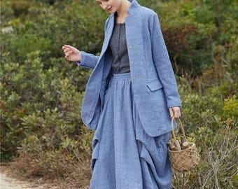 Wool Coat, tailored suit,Winter Coat , Blue coat , Linen coat , women coat , long Coat , Winter Coat Woman , Wool Jacket , winter jacket