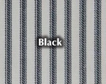 NEW Black Striped Bed Ticking Fabric Material By The Yard