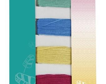 Matching wire bracelet Brazilian x 5 - Tangerine - Ref CC011 Avenue - until the stock!