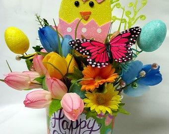 Easter Centerpiece, Easter decor, Easter Chick, Easter Egg Decor