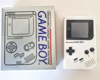 Gameboy Original DMG-01 With Backlight And Bivert LCD Mod Play it Loud White