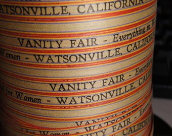 Fabulous Vintage Paper Advertising  Ribbon String....Vanity Fair