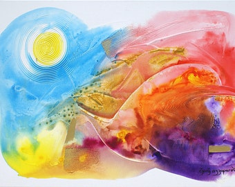 Abstract Original Art, Series R: 5B