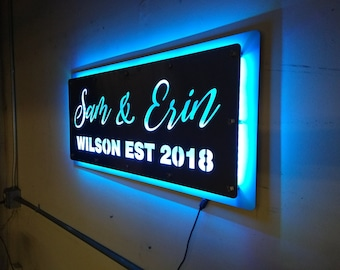 Custom LED sign for Newly Weds or Anniversary's