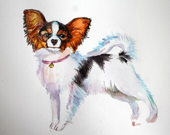 Custom pet portrait Full body portrait Dog picture Original wartercolor painting Gift for Watercolor cat dog portrait Custom Art Made order