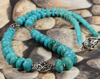 Turquoise Necklace  Statement Necklace Turquoise Jewelry Nevada Blue Turquoise Necklace