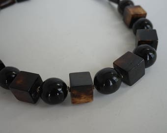 Wooden necklace/ Wood bead necklace