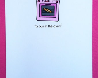 Bun in the Oven Pregnancy Greeting Card