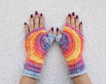 Fingerless Gloves Crochet, Fingerless Mittens, Womens Fingerless Gloves, Knitted Mittens, Crochet Mittens, Crochet Gloves, Crochet Mitts
