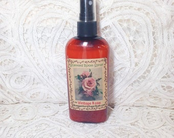 Rose scented room spray, Vintage Rose, floral scent, 4 ounce bottle, teacher gift ,room sprays, mother's day gift, Moeggenborg Sugar Bush