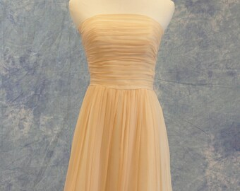 Pale Peach Bridesmaid Dress Short Formal Bat Mitzvah Homecoming SAMPLE SALE!