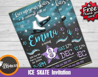 Ice skating invites Etsy