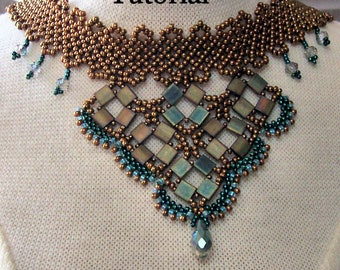 "Beading Tutorial ""Tila Magic Choker/Necklace"" PDF format INSTANT DOWNLOAD"