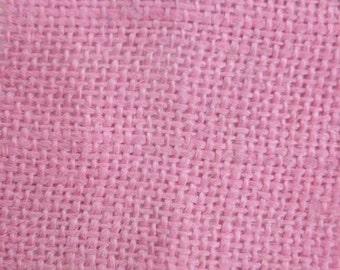 """Baby Pink Burlap Fabric 60"""" Wide Per Yard"""