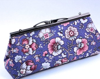 Clutch Purse, Periwinkle Blue  Bridesmaid Bag, Gift, Evening Bag, by WhiteCross Designs, Ready to Ship from USA