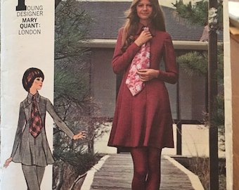 Rare Butterick Pattern #5912 Mary Quant