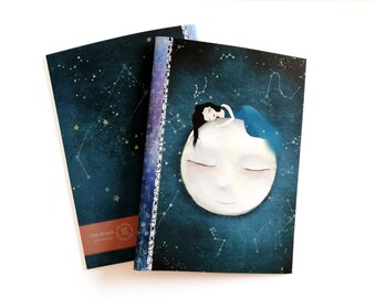 Shoot for the Moon... - A5 Handmade Notebook