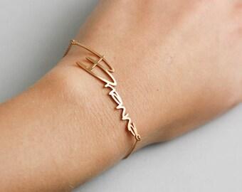 Name Bracelet, Baby Name Bracelet, Personalized Bracelet, Child Name Bracelet, Kids Name Bracelet, Personalized Gift, Mothers Day, SB0181