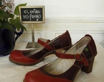 El Naturalista red pumps and Bordeaux - size 38