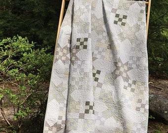 Butter Side Up Lynette Anderson Beige Cream Grey RJR Fabric Quilt Kit 66 1/2 x 80