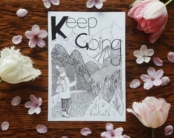 K for Keep Going A5 Print Selfabet Self Care