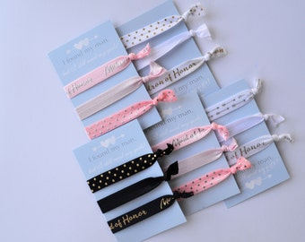 Maid of Honor Hair Tie Sets - Matron of Honor Hair Tie Sets