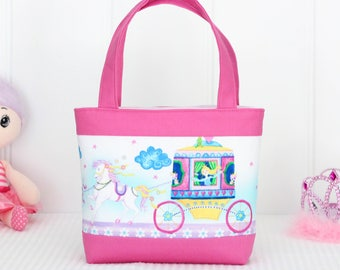 Mini Tote Bag / Girls Bag / Kids Bag / Wallet - Princess Carriage