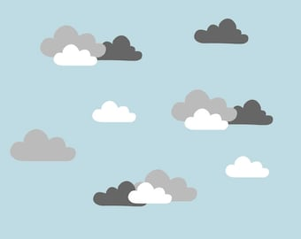 Cloud Wall Decals - Cloud Stickers