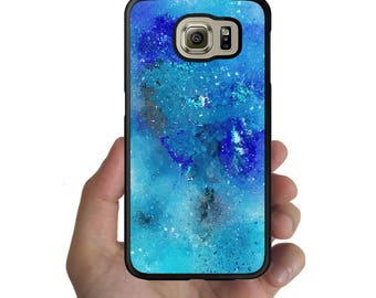 Galaxy note 8 5 4  S8 S8 Plus Cover S7 S7 Edge S6 S6 Edge Plus S5 S4 S3 Rubber Case Abstract watercolor pattern ocean blue case for samsung