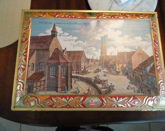 D320)  Vintage Large German E. Otto Schmidt Tin  Nurnberg-Prospect