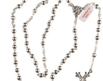 Sterling Silver Rosary Beads. Hand Made Sterling Silver Rosary Beads. A Beautiful Gift Rosary. Ideal for Holy Communion or Baptism.
