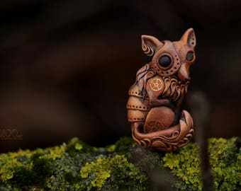 Steampunk Necklace Rusty Fox.