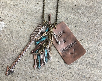 She's a warrior necklace