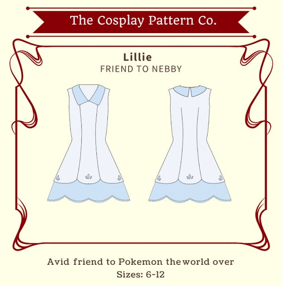 Lillie Pokemon Sun & Moon Cosplay Sewing Pattern PDF INSTANT