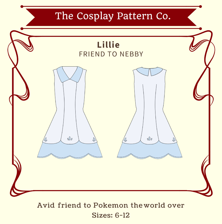 Lillie pokemon sun moon cosplay sewing pattern pdf instant zoom jeuxipadfo Images